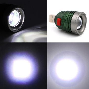 Яркий USB фонарь с регулировкой луча света