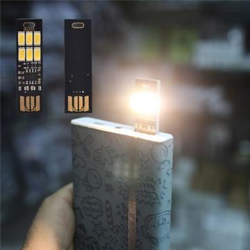 USB фонарь на 2 - 6 диодов с регулировкой яркости - крутой брелок