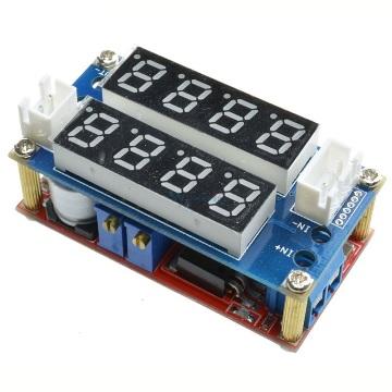 Понижающий преобразователь вх. 5-32V, вых. 1,27-30V ток 5А с индикатором напряжения и тока