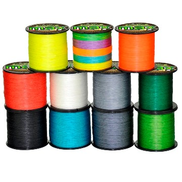Плетеная леска 0,10 - 0,48 мм, 10 цветов, 300 метров