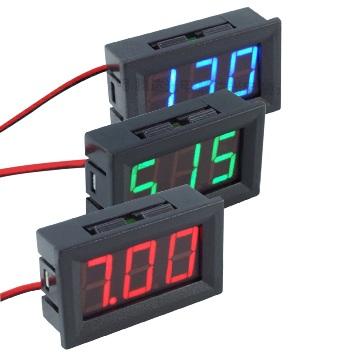 Цифровой вольтметр в корпусе 4.5-30 В