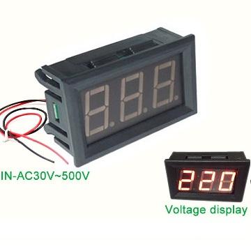 Цифровой вольтметр в корпусе 30 - 500 В
