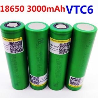Высокотоковые аккумуляторы Liitokala 18650 vtc6 3.7 В 3000 мАч 30А