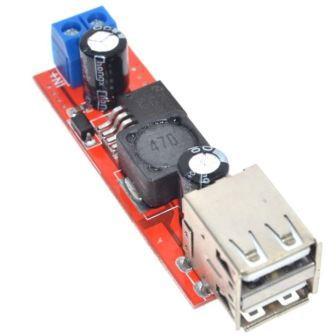 Понижающий преобразователь вх. 6-40V, вых. 5V ток 3А, USB