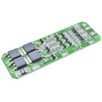 Плата защиты для 3 аккумуляторов BMS 3S 12,6В 20А